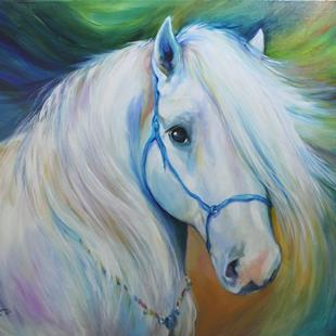 Art: MADDIE the ANGEL HORSE by Artist Marcia Baldwin