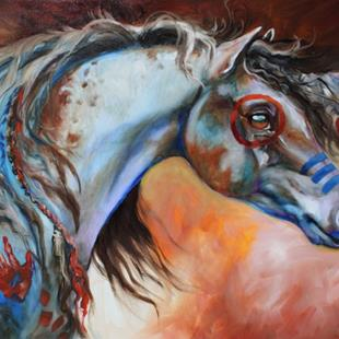 Art: THE GREAT ONE ~ INDIAN WAR HORSE by Artist Marcia Baldwin