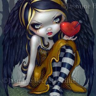 Art: Heart of Nails ORIGINAL PAINTING by Artist Jasmine Ann Becket-Griffith