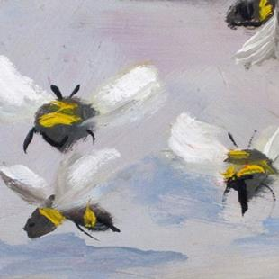 Art: Bees Aceo by Artist Delilah Smith