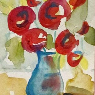 Art: Red Flowers by Artist Delilah Smith