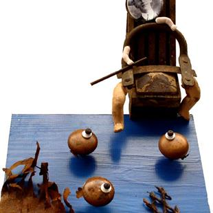 Art: The Fisherman Piping by Artist john christopher borrero