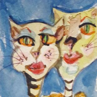 Art: Cool Cats by Artist Delilah Smith
