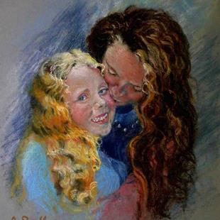 Art: Emma and Kaya by Artist Ann Radley