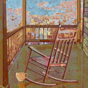 Art: Back Porch by Artist Mary Ogle