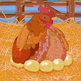 Art: Mother Hen by Artist Mary Ogle