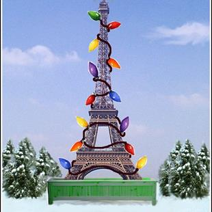 Art: Christmas in Paris by Artist Lindi Levison