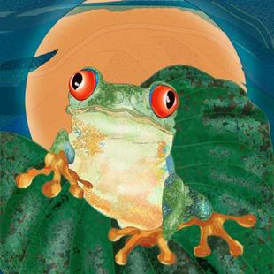 Art: Tree Frog by Artist Mary Ogle