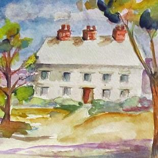 Art: Landscape with House by Artist Delilah Smith