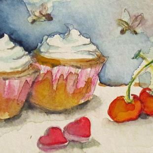 Art: Valentine Treats Aceo by Artist Delilah Smith