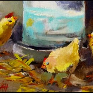 Art: Little Chicks by Artist Delilah Smith