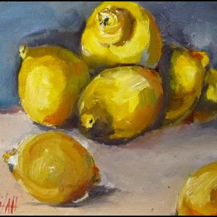 Art: Lush with Lemons by Artist Delilah Smith