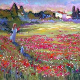 Art: Provence Poppy Fields by Artist Patricia  Lee Christensen