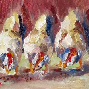 Art: IMG_afternoon-chickens-delilah-5x7.jpg by Artist Delilah Smith