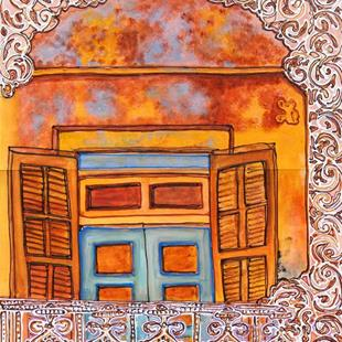 Art: New Orleans Balcony by Artist Joan Hall Johnston