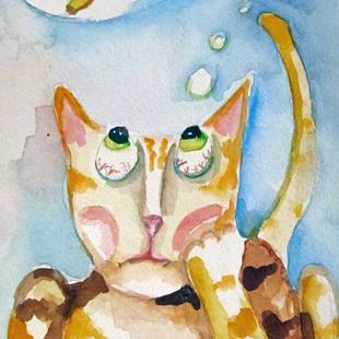 Art: Cat Dreams by Artist Delilah Smith