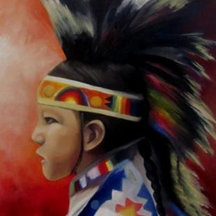 Art: Young Dancer by Artist Christine E. S. Code ~CES~
