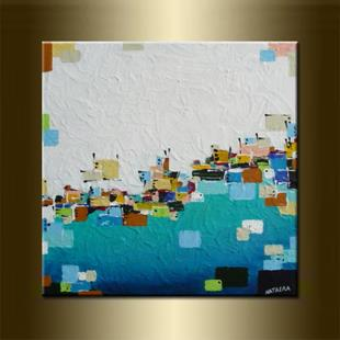 Art: ORIGINAL ABSTRACT PAINTINGS  -  SOLD by Artist Nataera