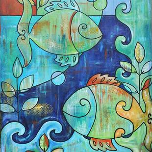 Art: Deep Water Fish (sold) by Artist Melanie Douthit