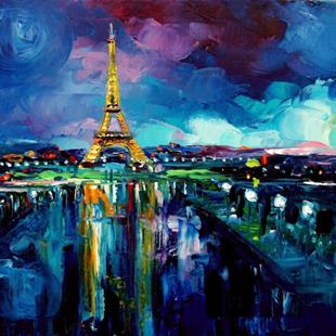 Art: Parisian Night by Artist Aja