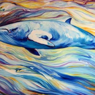 Art: MINKE WHALE PROJECT COMMISSIONED ~ SOLD by Artist Marcia Baldwin