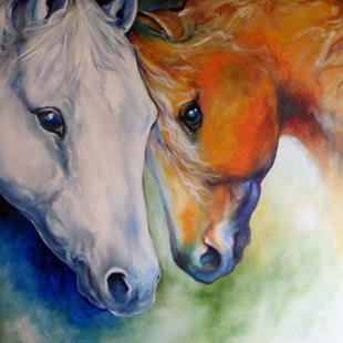 Art: COMPANIONS COMMISSION 40x30 for LORI by Artist Marcia Baldwin
