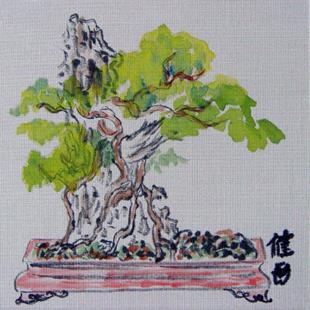 Art: Bonsai by Artist Tracey Allyn Greene