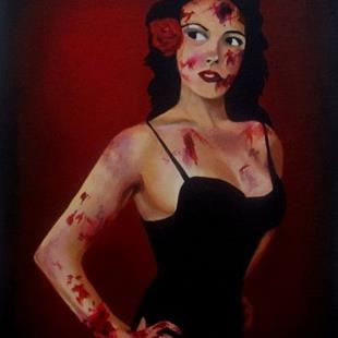 Art: Zombie Pin-up by Artist Christine E. S. Code ~CES~