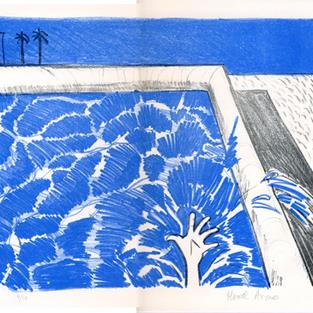 Art: California Pool IV by Artist Muriel Areno
