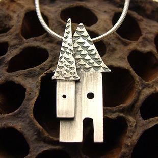 Art: House Necklace by Artist Andree Chenier