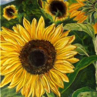Art: Sunflower by Artist Caroline Lassovszky Baker