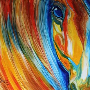 Art: ABSTRACT HOPE EQUINE by Artist Marcia Baldwin