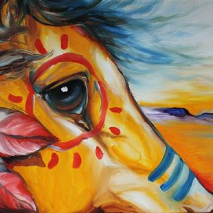 Art: CHIEF WAR PONY by Artist Marcia Baldwin