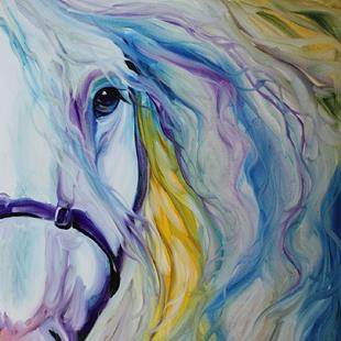 Art: SILVER BLISS ANDALUSIAN by Artist Marcia Baldwin
