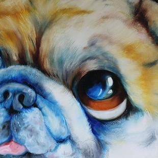 Art: ADORABLE PUG FACE by Artist Marcia Baldwin