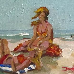 Art: Beach Girls by Artist Delilah Smith