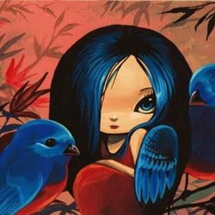 Art: Blue Birds by Artist Nico Niemi