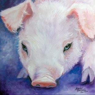 Art: HAIRY LITTLE PIG 2 by Artist Marcia Baldwin