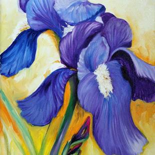 Art: PURPLE DUO by Artist Marcia Baldwin