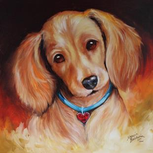 Art: LOVE ME DACHSHUND by Artist Marcia Baldwin