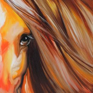 Art: SIENNA SUNRISE EQUINE EYE by Artist Marcia Baldwin