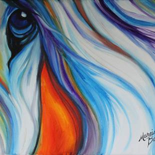 Art: EQUINE ABSTRACT EYE of COMPASION by Artist Marcia Baldwin