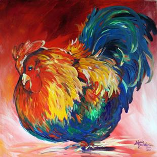 Art: ROOSTER PICK'N by Artist Marcia Baldwin
