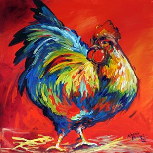 Art: TOP BIRD ROOSTER by Artist Marcia Baldwin