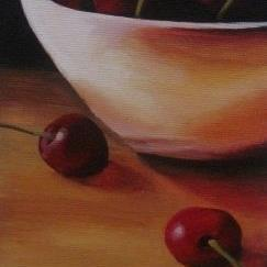 Art: Cherry Arrangement by Artist Christine E. S. Code ~CES~