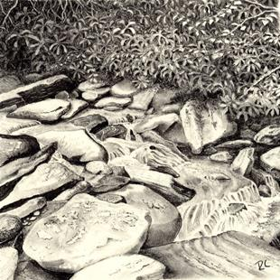 Art: Rocks and Rolling Water by Artist Robin Cruz McGee