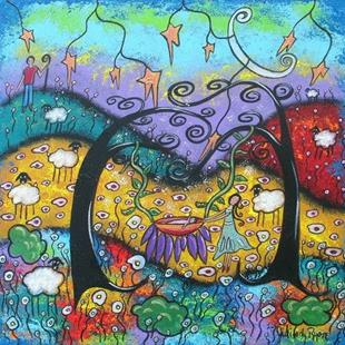 Art: Shaking The Dreamland Tree by Artist Juli Cady Ryan