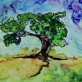 Art: bonsai tree by Artist Dottie Cooper Katz