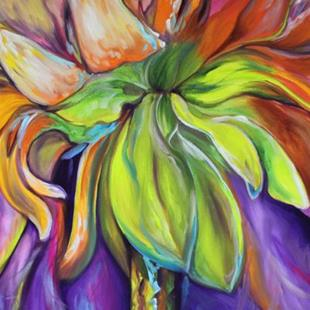 Art: FLORAL ABSTRACT DAISY by Artist Marcia Baldwin