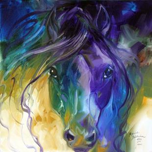 Art: ABSTRACT BLUE ROAN by Artist Marcia Baldwin